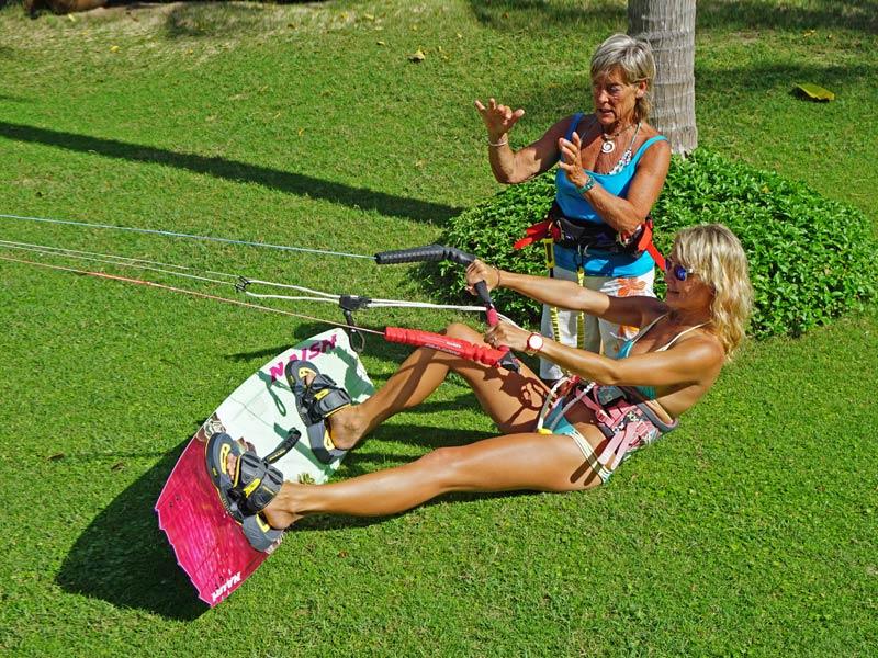 Waterstart theory kiteboarding lessons