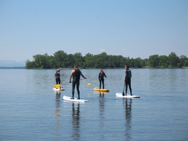 SUP tour around lake champlain Burton island