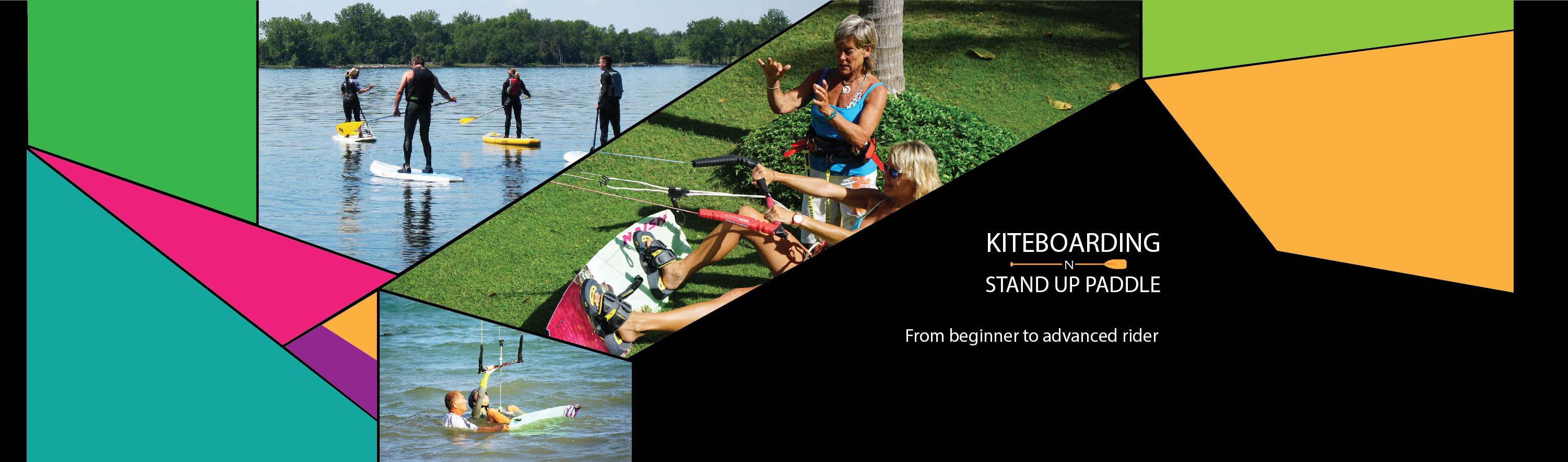 Kiteboarding SUP school lake Champlain Vermont Bay